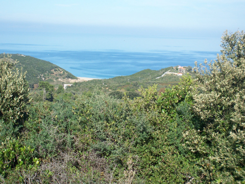 Land plot near the beach of Melani, south Pelion with view of the Aegean sea Property - Real Estate Greece